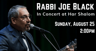 Summer Concert at Har Shalom Features Rabbi Joe Black