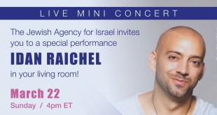 Israeli Artist Idan Raichel Announces Live-Streamed Global Performance on Sunday, March 22