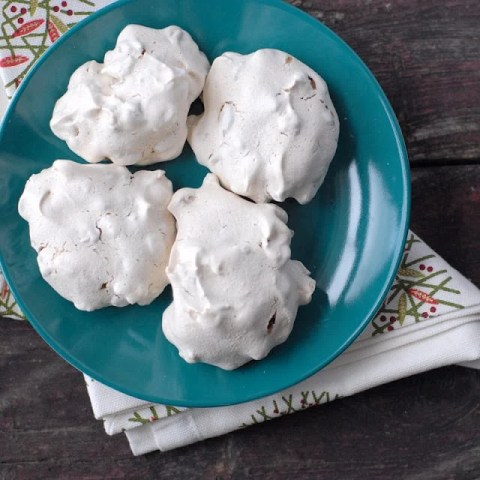 Forgotten Cookies recipe. An airy meringue cookie with chocolate chips and nuts. Placed in a preheated oven and left overnight to set. Gluten-free | BoulderLocavore.com