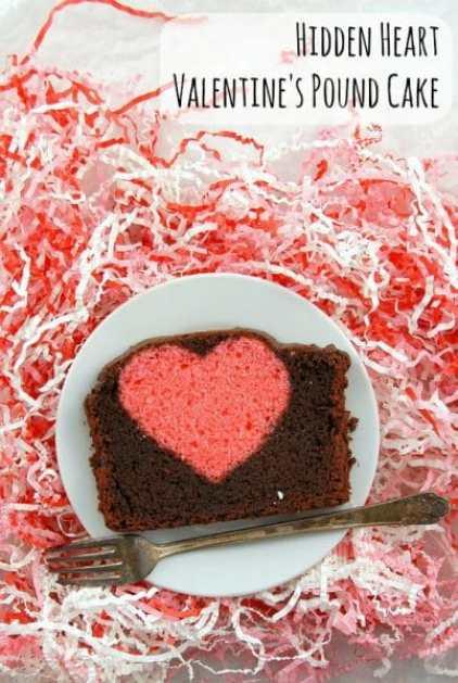 Hidden Heart Valentine's Pound Cake gluten free BoulderLocavore