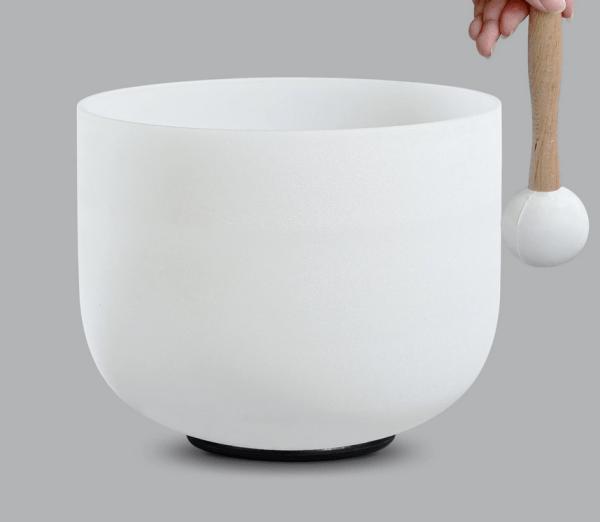 frosted quartz singing bowl