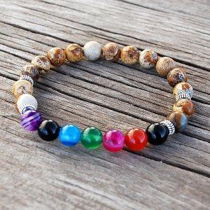 jasper chakra bracelet