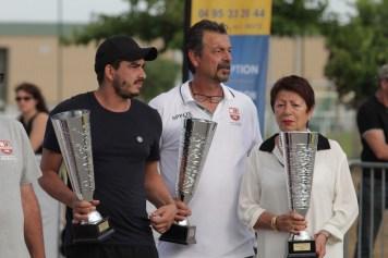 La famille Luiggi sur trois générations lors de la remise des Trophées, National 2018