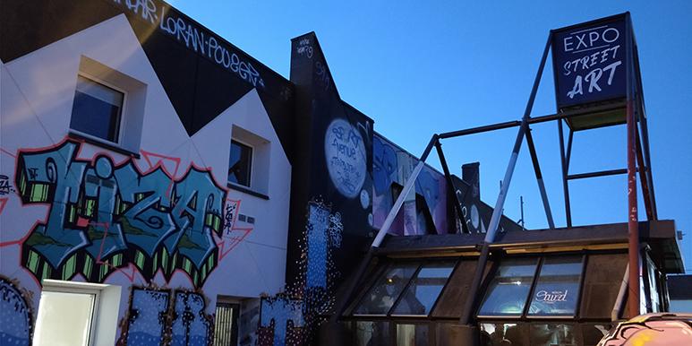 Exposition temporaire street art Open Graf hotel Ibis à La Roche-sur-Yon