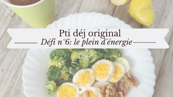 petit déjeuner original