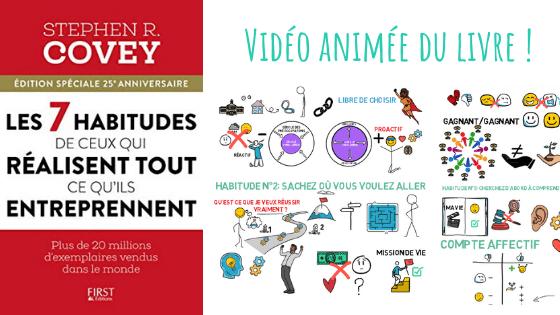 les 7 habitudes de ceux qui réalisent tout ce qu'ils entreprennent vidéo animé