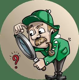 detective loupe chercher le négatif vaincre les pensées négative