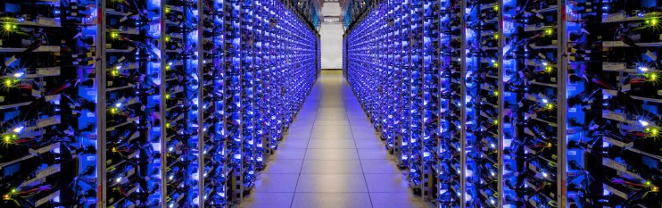An Amazon Cloud Server Room - technologies