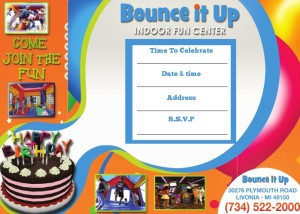 Bounce It Up Invitation