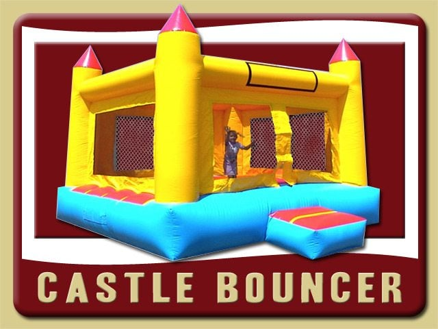 Castle Inflatable Moonwalk Party Rental Debary Red Blue Yellow