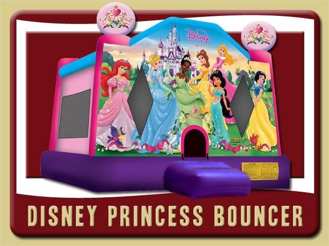 Disney Princess Bounce House Belle Tiana Snow White Cinderella Sleeping Beauty Princess Rental
