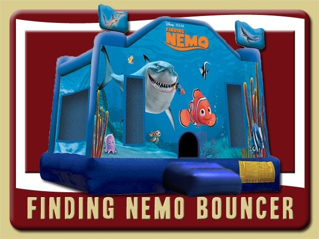 Disney Finding Nemo Bounce House Rental Palatka Ocean Blue