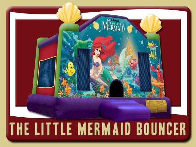 Disney Little Mermaid Bounce House Rental Deland Ariel puple red green