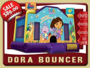 Dora the Explorer Bounce House Rental, Boots, Benny, Swiper
