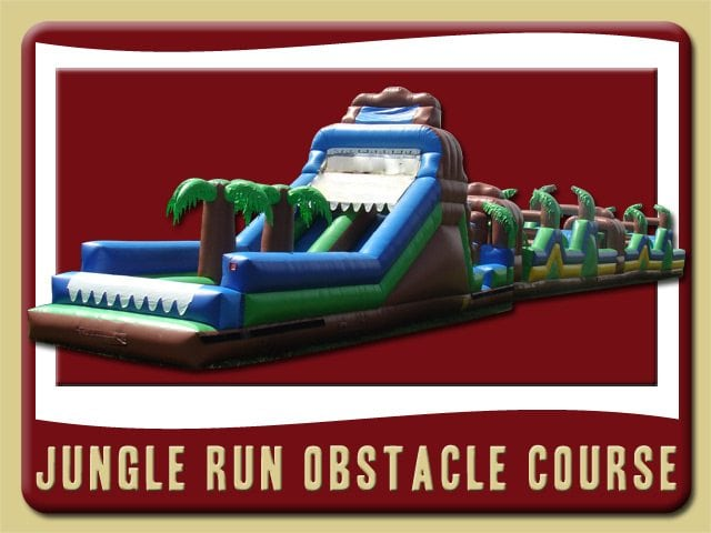 Jungle Run Extreme Water Slide Obstacle Course Inflatable Rental Flagler Beach
