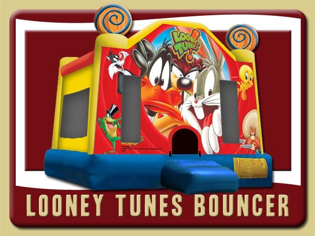 Looney Tunes Bounce House Rental Bunnell Bugs Bunny Taz Yellow Blue