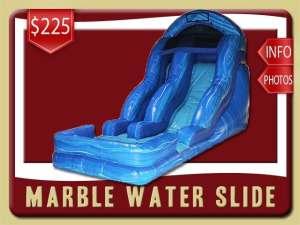 Marble Water Slide Rental, Pool, Inflatable, Blue