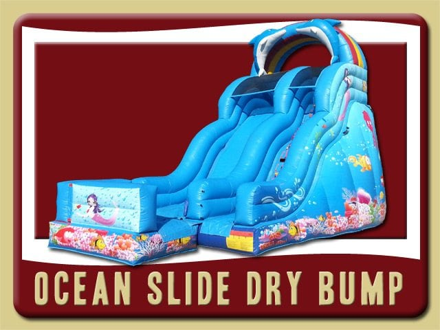 Ocean Slide Dry Bump Inflatable Party Rental Lake Helen