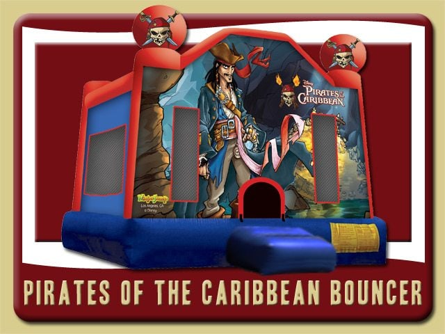 Pirates of the Caribbean Bounce House Rental Port Orange blue red