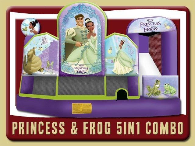 Princess Frog 5in1 Bounce House Water Slide Combo Rental