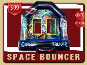 Space Bounce House Retnal, Alien, Astronaut, Blue