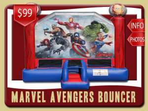 Marvel Avengers Bounce House Rental Iron Man, Thor, Hulk, Captain America, Captain Marvel, , Black Panther, Black Widow