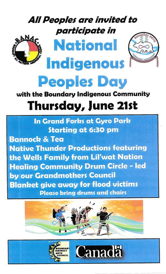 Grand Forks – National Indigenous Peoples Day