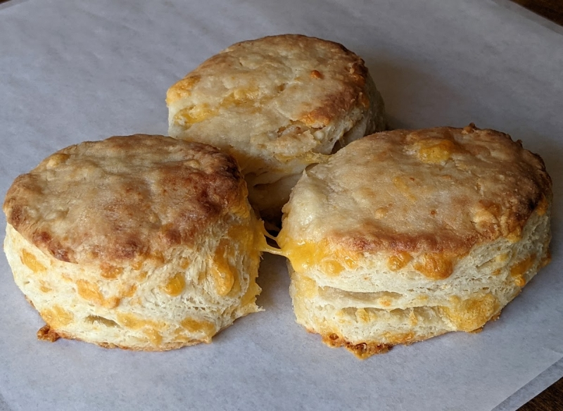 Super savory cheddar cheese biscuits