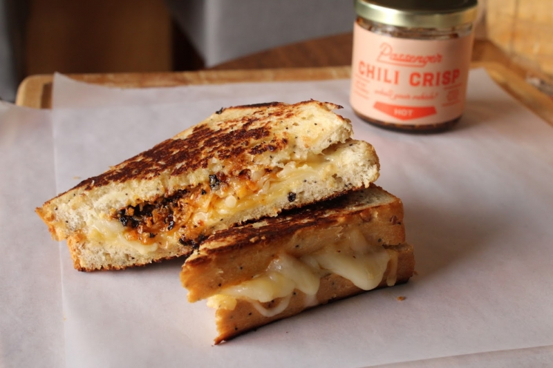 Chili crisp grilled cheese