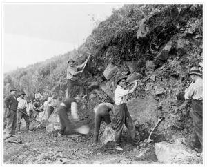 Cliff digging