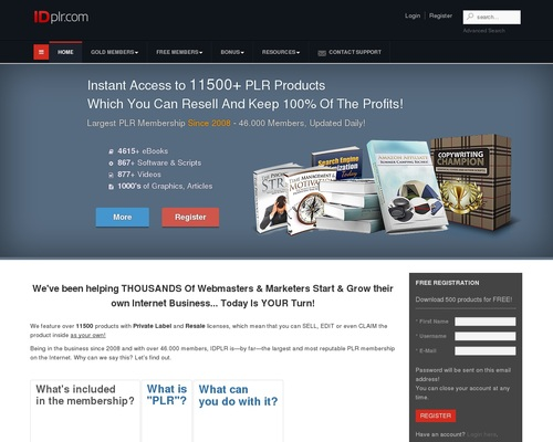 12590+ PLR Products! Join free PLR membership & download latest products with resell, master resale and private label rights!