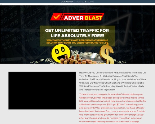 Adverblast Advertising Earn Up To $115 Through CB Per Customer