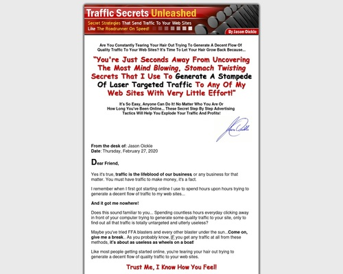 Traffic Secrets Unleashed by Jason Oickle