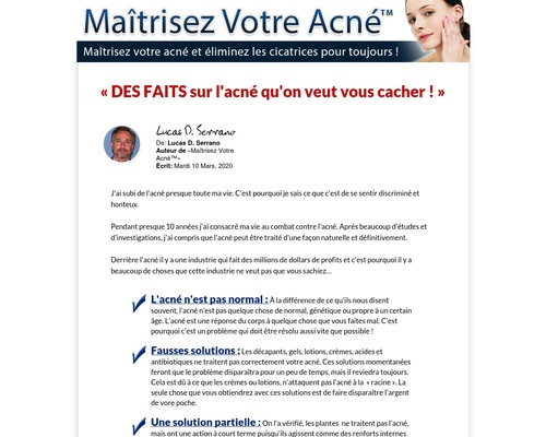Maitrisez Votre Acne - Acne Treatment French Version.