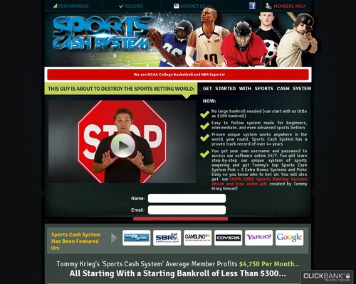 SportsCashSystem.com :: The #1 Sports Investing System - Best Sports Investing System