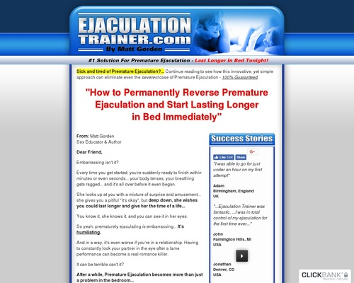 Premature_ejaculation - 10+ Years Running - Evergreen Niche