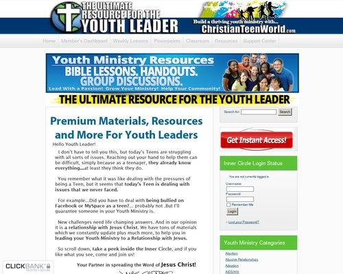 Youth Ministry Group Lessons – ChristianTeenWorld.com