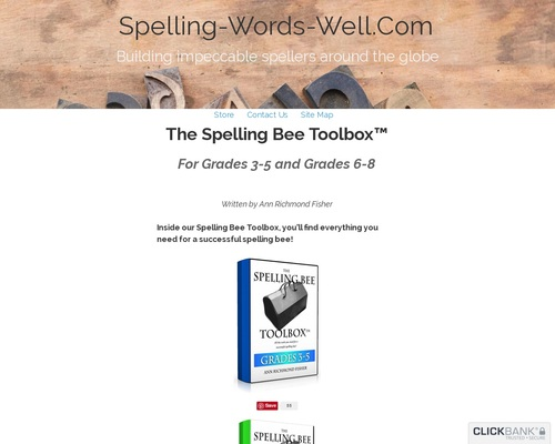 The Spelling Bee Toolbox Books