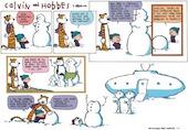 art contemporain Calvin & Hobbes 1