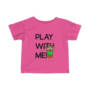 Play with me explorer (parental guidance required) infant girl's t-shirt - front - pink