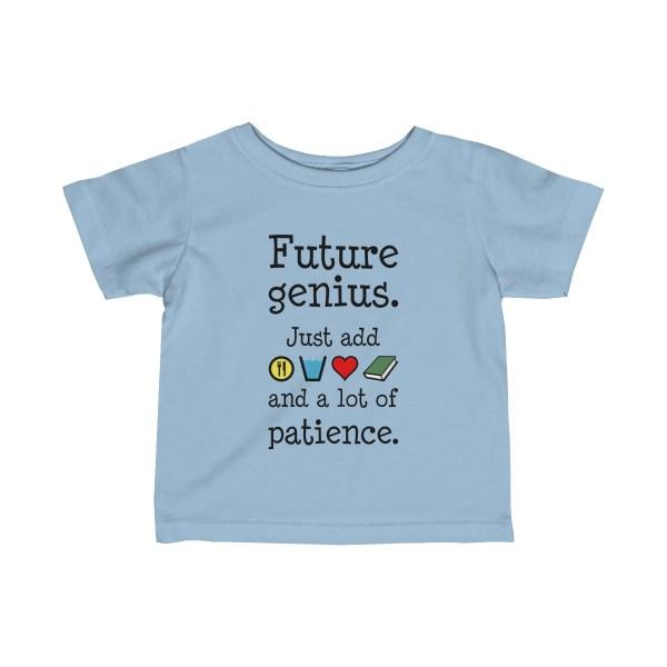 Future genius infant t-shirt - light-blue
