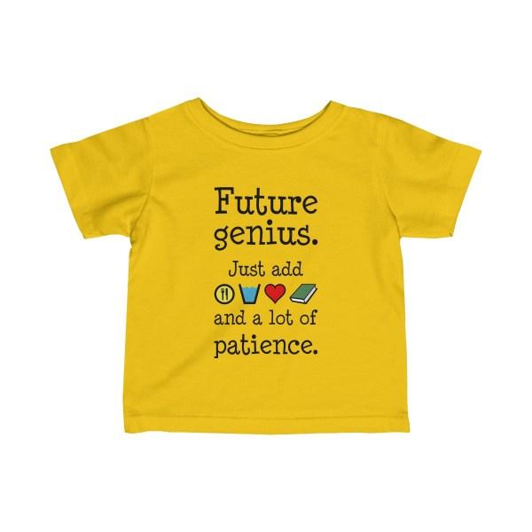 Future genius infant t-shirt - yellow