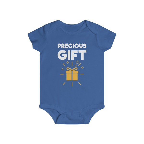Precious gift infant onesie - blue