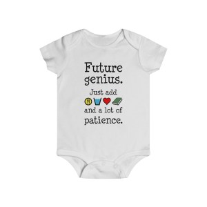 Future genius infant onesie - white