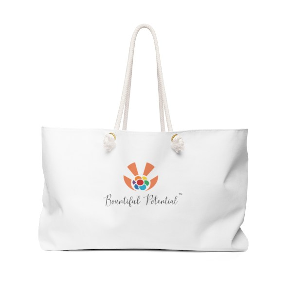 Bountiful POtential weekender tote bag - back