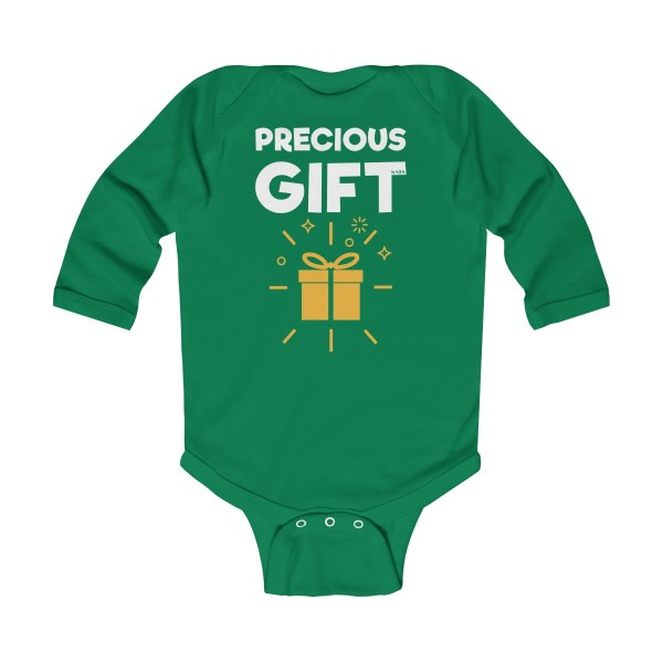 Precious gift long-sleeved infant onesie - green