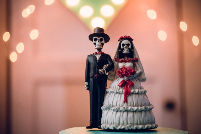 Wedding Day Calavera Dolls