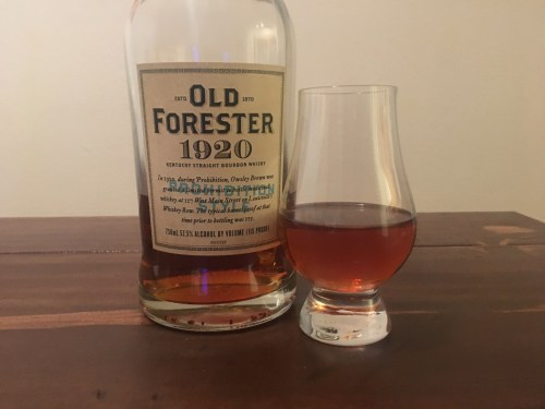 Old Forester 1920 and dram
