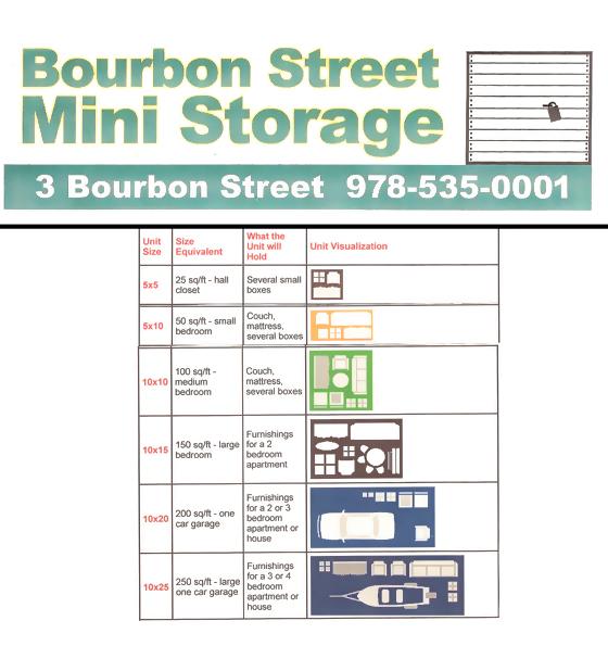 Bourbon Square Apartments: Peabody, MA Storage Unit Rental