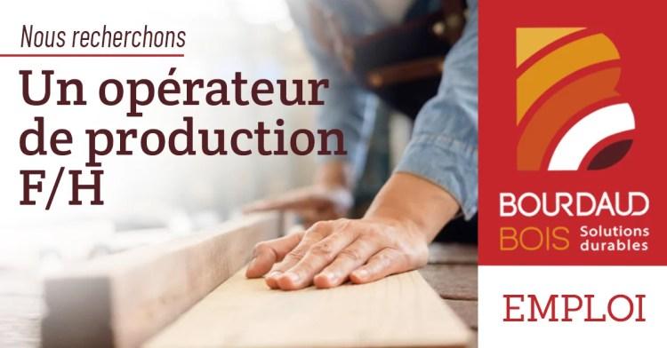 Emploi OPÉRATEUR DE PRODUCTION